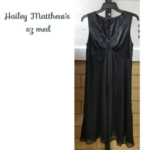Hayley Matthew's little black dress sz med.